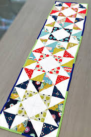 30+ Free Table Runner Quilt Patterns and Table Topper Designs ... & Charm Pack Modern Table Runner Adamdwight.com