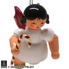 Christbaumschmuck Engel Mit Zuckerstange Rote Flügel