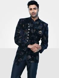 Designer Suits For Men In Chennai Mens Imported Jodhpuri Blue Suit Js91236