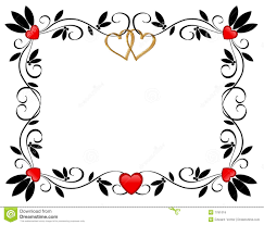 Valentines Day Border Hearts Ornamental Stock Illustration Image