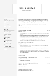 Financial Analyst Resume Templates 2019 Free Download