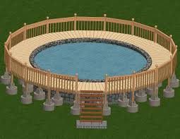 decks around above ground pools source deckpictures org bluewordpools1