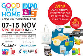Small Picture Singapore Expo Good to Be Home Expo Big Furniture Fair 7 15 Nov
