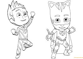 Pajama Hero Connor Is Catboy From Pj Masks Coloring Page Pj Masks
