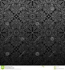 Naadloos Islam Patroon Uitstekende Zwarte Bloemenachtergrond Vector