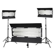 flolight kit fl 110hm3 3 point lighting kit 3000k 110