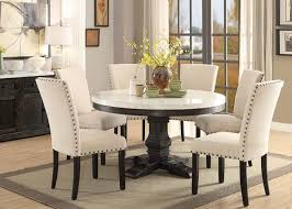 surprising design ideas marble top dining room sets 54 nolan round white set acme 72845 table with four chairs faux 5