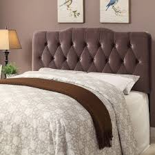 brown upholstered headboard.  Brown Shop Tufted Brown Velvet Fabric Queen Size Upholstered Headboard  Free  Shipping Today Overstockcom 15635356 Throughout D
