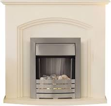 image of adam truro 2kw electric fireplace suite ivory