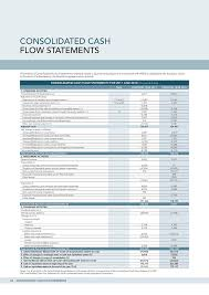 cash statements nh annual report consolidated cash flow statements