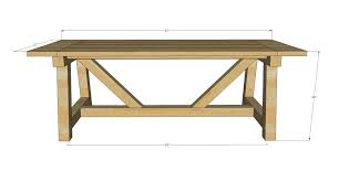 Easy Diy Dining Table Ana White Build A 4x4 Truss Beam Table Free And Easy Diy