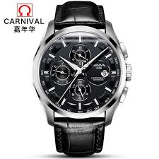 Top brand CARNIVAL Fashion Men Watch <b>Multifunction</b> Automatic ...