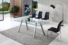 pedro contemporary glass dining table with akira chairs