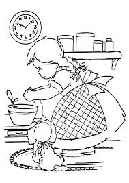 Hello kitty was born on november 1 in the suburbs of london and she lives there with her parents george and mary, and her twin sister, mimmy. Cooking Coloring Pages Hello Kitty Is A Chef Coloring Pages Coloring Home