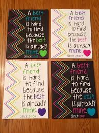 best friend gifts diy lovely this canvas was made by my best friend as i we