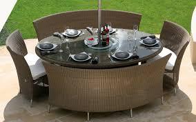 round wicker dining set