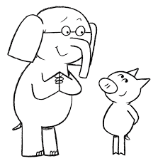 Small Picture Elephant And Piggie Coloring Page Mo Willems Pinterest Mo