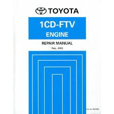 2004 TOYOTA AVENSIS 1CD-FTE ENGINE REPAIR MANUAL ENGLISH