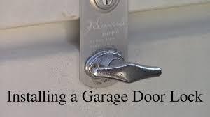 garage door lock kit. Installing A Garage Door Lock Kit E