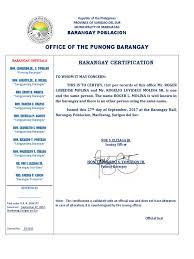 Barangay Certificate Of Indigency Politics Crime Justice