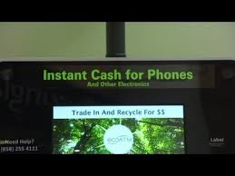 Vending Machines That Buy Old Cell Phones Awesome This ATM Turns Old Cell Phones Into Cash YouTube