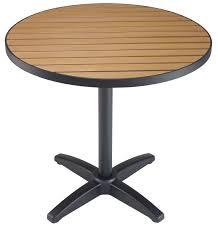 round outdoor teak resin patio table w