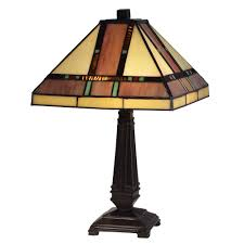 hyde park mission mica bronze table lamp
