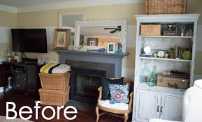 see how to transform you your living room with diy fireplace built ins it
