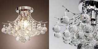 lightinthebox sparkling crystal chandelier with chrome finish