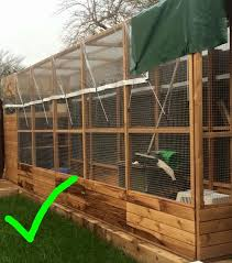 wood run with good mesh secure kick boards and places to hide outdoor exercise run for indoor rabbits