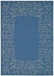 safavieh courtyard blue beige indoor outdoor area rug 6 7 x 9
