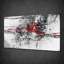 image is loading red grey black paint splash abstract canvas wall  on black and white with a splash of red wall art with red grey black paint splash abstract canvas wall art print picture
