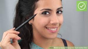 image led apply makeup for dark indian skin step 9