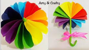how to make paper umbrella diy kids room decor miniature doll mini umbrella paper decor for kids