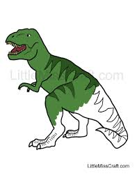 Small Picture Crafts Tyrannosaurus Rex Coloring Page