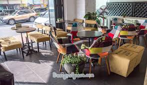 funky cafe furniture. Funky Cafe Furniture. Chairs Made Of Patches Different Fabrics Found In A Little Bussan Furniture U