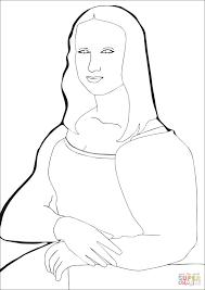 Disegno Di La Gioconda Di Leonardo Da Vinci Da Colorare Disegni Da