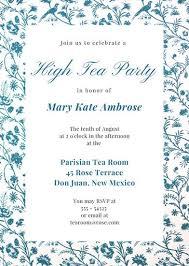 tea party templates interior tea party invitations customize 3999 tea party invitation