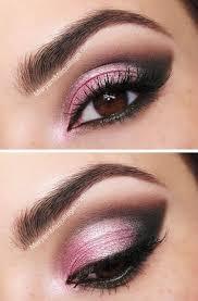 shimmery pink smokey eye makeup