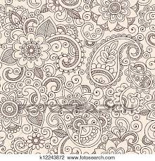 Henna Pattern Impressive Clipart Of Henna Mehndi Paisley Floral Pattern K48 Search