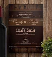Free Invitation Design Templates Awesome 48 Rustic Wedding Invitation Design Templates PSD AI Free Download