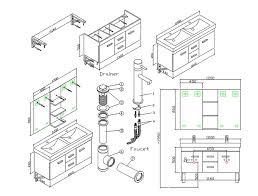 unusual ideas design bathroom sink drain rough in height kitchens