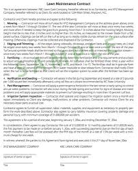 Permalink to Lawn Maintenance Contract Template : Lawn Care And Landscape Maintenance Contract Pdf Fill Online Printable Fillable Blank Pdffiller : Free lawn care invoice template.