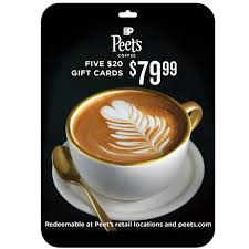 The perfect personalized coffee gift. Peet S Coffee Tea Five 20 Gift Cards