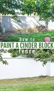 fixing andold cinder block wall fence patch and painting with drylok remodelaholic