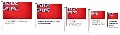 Flag Size Chart Boat Flags And Flag Poles Jones Boat Chandlery