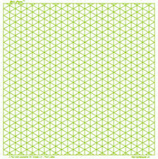 Isometric Drawing Tool Graph Paper 8 Inch Green Square