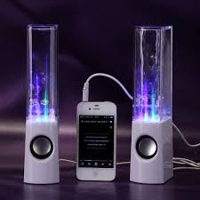 Bluetooth Light Show Fountain Speakers Usb Led Light Dancing Water Show Speaker Music For Pc Laptop