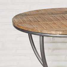 Esszimmertisch Rund 78 Cm Holz Metall Esstisch Runder Tisch Retro Küchentisch