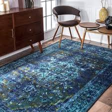 nuloom traditional vintage inspired overdyed fancy blue rug 9 x 12 in design 1